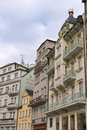 Karlovy Vary small hotels Royalty Free Stock Photos