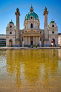 Karlskirche in vienna beautiful st charles church an outstanding example of baroque architecture Royalty Free Stock Image