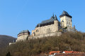 Karlstejn castle near prague in the czech republic Stock Image
