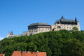 Karlstejn castle the royal in in the czech republic the served as a place for safekeeping the imperial regalia as well as Royalty Free Stock Images