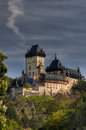 Karlstejn - Gothic castle Stock Photo