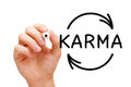 Karma Cycle Arrows Concept Royalty Free Stock Photo