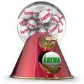 Karma Gum Ball Machine Win Best Good Luck Destiny Fate Royalty Free Stock Photo