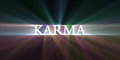 Karma light speed flare dreamy sign shining with powerful halo with speedy motion effect and heavenly Royalty Free Stock Photography