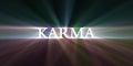 Karma light speed flare Royalty Free Stock Photo
