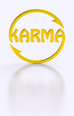 Karma word cycling golden symbol Royalty Free Stock Photo