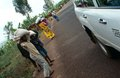 Karmowy distribtution opieką, Rwanda. Zdjęcie Royalty Free