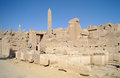 Karnak temple complex in luxor Stock Photography