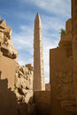 Karnak temple Obelisk Royalty Free Stock Photo
