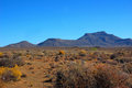 Karoo landscape south africa of the in showing the hantam mountains viewed from the little town of calvinia in the northern cape Stock Photo