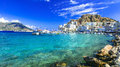 Karpathos island with pictorial capital Pigadia, Greece Royalty Free Stock Photo