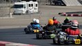 Kart racing group lakc drivers race for position on may th at california speedway in fontana ca Stock Images