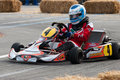 Kart on the track there is photo have been made in sanremo during competition http www sanremonews it sommario annunci leggi Royalty Free Stock Photography