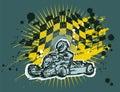 Karting background Royalty Free Stock Photo