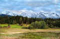 Karwendel mountain range over Tennsee Royalty Free Stock Photo