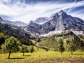 Karwendel mountains in summer austria Stock Image