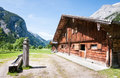 Karwendel old farmhouse at the mountain austria Stock Photo