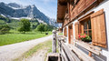Karwendel old farmhouse at the mountain austria Stock Image