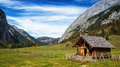 Karwendel old farmhouse at the mountain austria Stock Photography