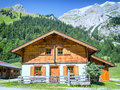 Karwendel old farmhouse at the mountain austria Stock Images