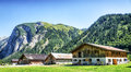 Karwendel old farmhouse at the mountain austria Royalty Free Stock Photo