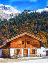 Karwendel old farmhouse at the mountain austria Royalty Free Stock Images