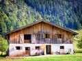 Karwendel old farmhouse at the mountain austria Stock Photos