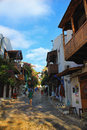 Kas street with people in antalya turkey september Stock Photo