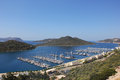 Kash harbour yacht and boats in the kas harbor Royalty Free Stock Image