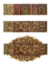 Kasha - roasted buckwheat Royalty Free Stock Image