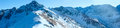 Kasprowy Wierch  in the Western Tatras. Winter panorama. Royalty Free Stock Photo