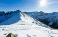 Kasprowy Wierch  in the Western Tatras. Winter view. Royalty Free Stock Photo
