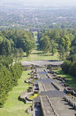 Kassel a view from the herkules down to castle Royalty Free Stock Images