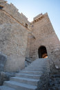 Kastellos ruins west coast of rhodes island greece Stock Photo