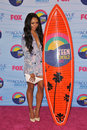 Kat graham at the teen choice awards at the gibson amphitheatre universal city july los angeles ca picture paul smith featureflash Royalty Free Stock Photo