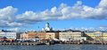 Katajanoka neighbourhood helsinki finland is south side is dominated by passenger harbour which is frequented by large Stock Photography