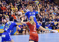 Katarina bulatovic of oltchim ramnicu valcea pictured in action during a ehf champions league game between and slovenian Stock Photos
