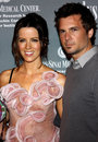 Kate beckinsale and len wiseman at the th annual pink party held at the hangar in santa monica on september Stock Image