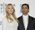 "Kate hudson and riz ahmed hollywood film star actor arrive on the red carpet for the premiere of ""the reluctant fundamentalist Royalty Free Stock Photography"
