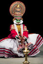 Kathakali Dance in Kerala, South India Royalty Free Stock Photo