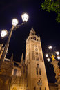 Kathedraalla giralda in sevilla spain Stock Afbeeldingen