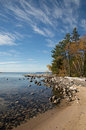 Katherine Cove Lake Superior Calm and sunny Royalty Free Stock Photo