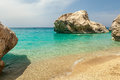 Kathisma beach on lefkas island greece photo taken in Royalty Free Stock Image