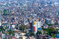 Kathmandu city in nepal view from swayambhunath Stock Images