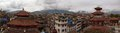 Kathmandu durbar square panorama Royalty Free Stock Photos