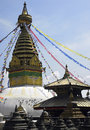 Kathmandu - Swayambhunath Stupa - Nepal Royalty Free Stock Photo