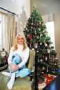 Katie lohmann photo shoot for s christmas card private location los angeles ca exclusive Royalty Free Stock Photo