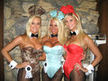 Katie lohmann tina jordan amanda paige milwaukee s best party playboy mansion beverly hills ca Stock Image