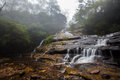 Katoomba cascades blue mountains australia waterfall in Stock Image