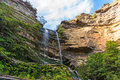 Katoomba Falls, Blue Mountains National Park, Australia Royalty Free Stock Photo